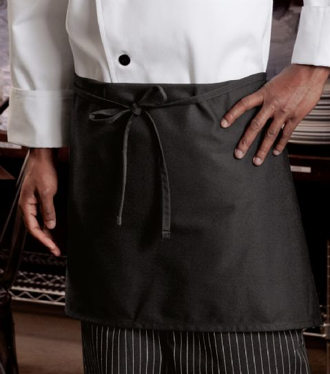 Black  cotton chef waist apron waiter/waitress  large pocket